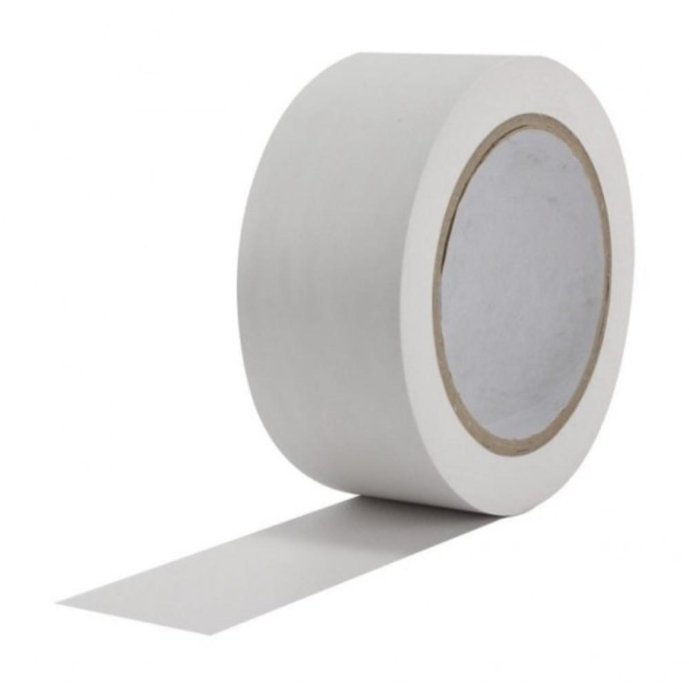 Fita de PVC para Demarcação de Solo Tectape 48mm X 30m Branca