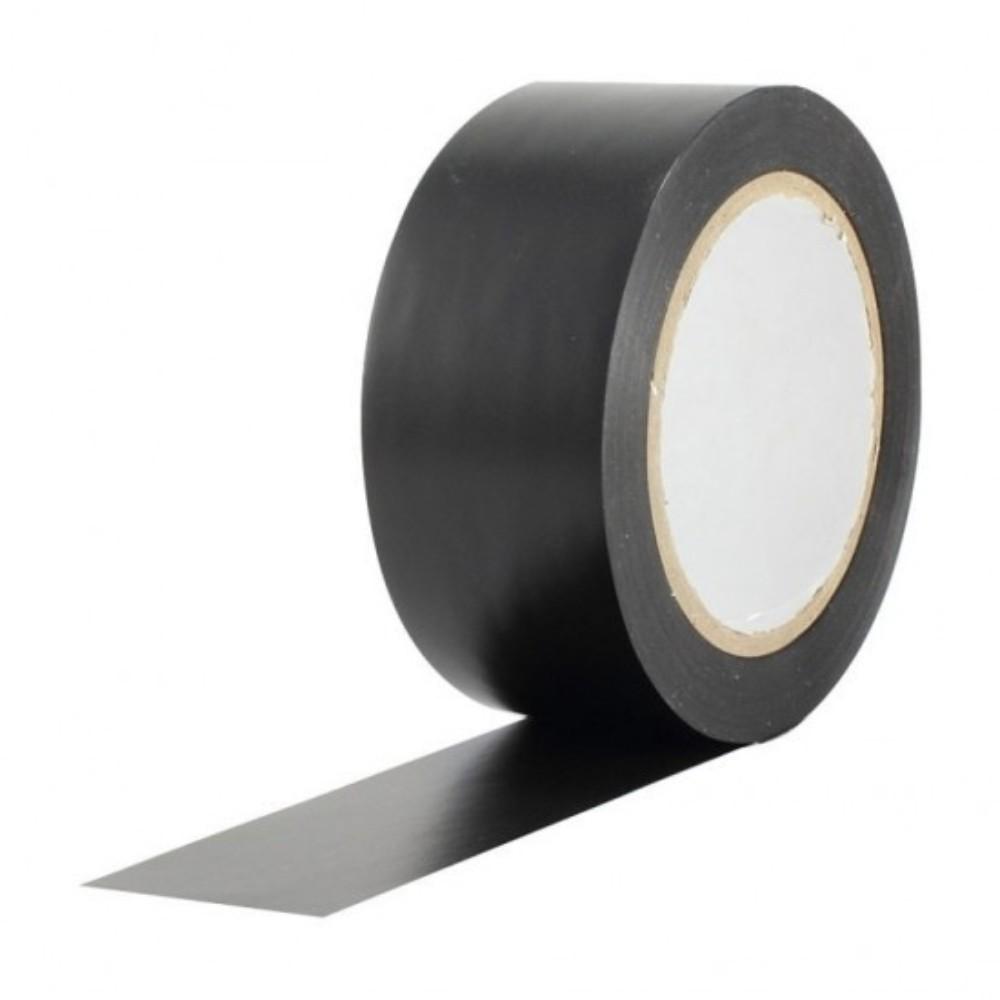 Fita de PVC para Demarcação de Solo Tectape 48mm X 30m Preta