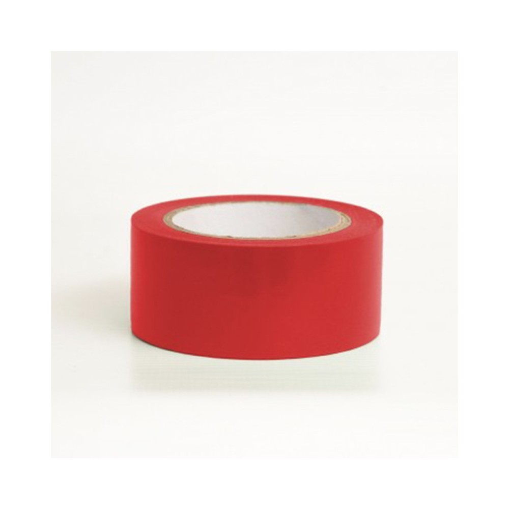 Fita de PVC para Demarcação de Solo Tectape 48mm X 30m Vermelha