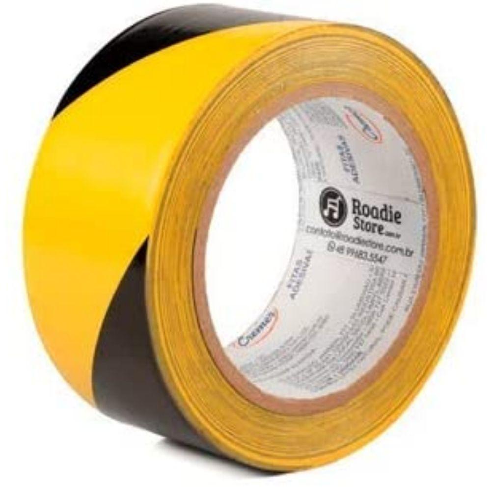 Fita de PVC para Demarcação de Solo Zebrada Cremer 48mm X 30m Amarela e Preta