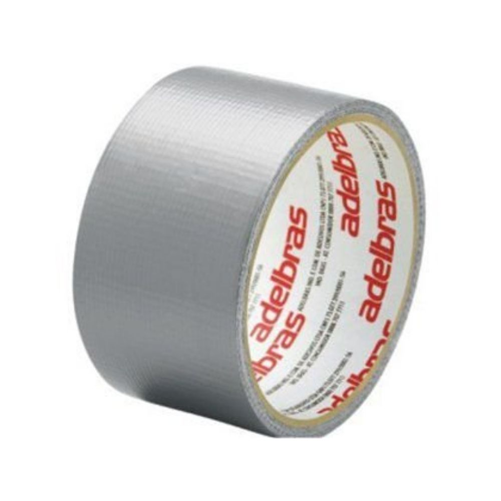 Fita de PVC Silver Tape Multiuso Adelbras 48mm X 10m Prata  - Casa do Roadie