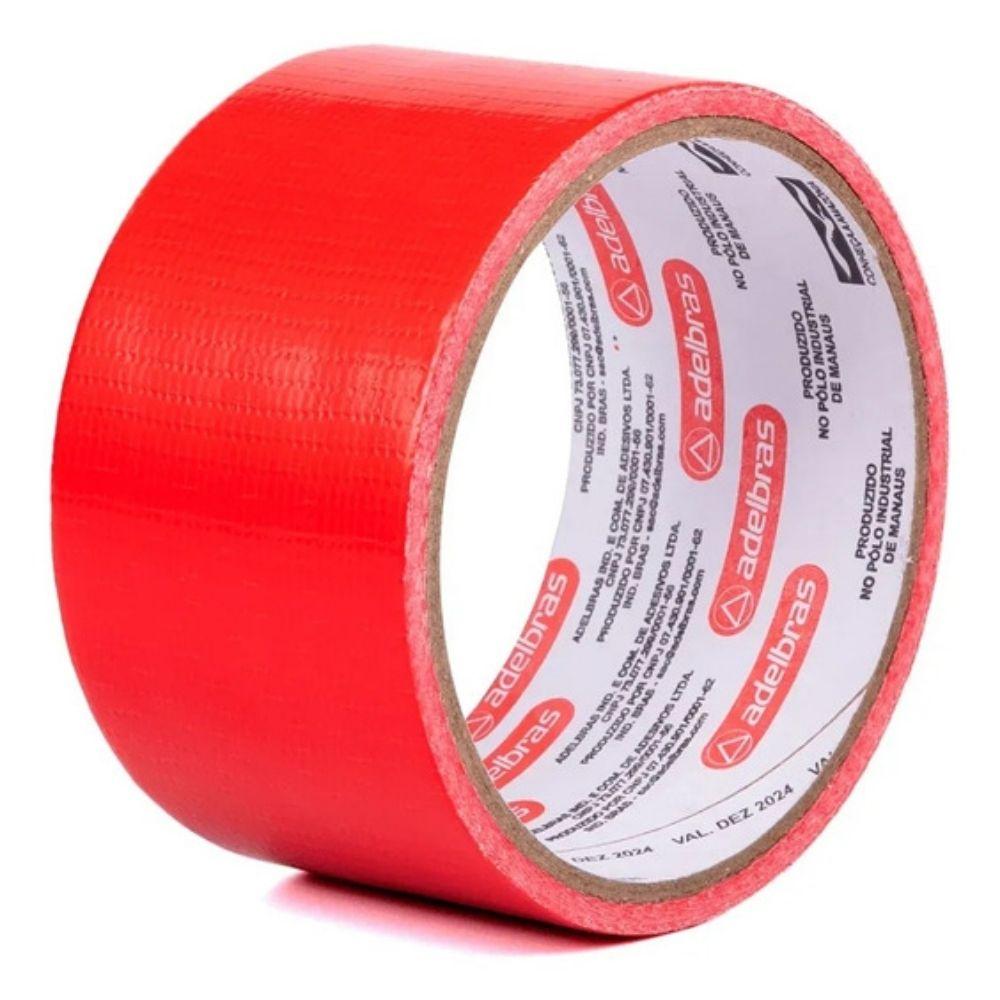 Fita de PVC Silver Tape Multiuso Adelbras 48mm X 5m Vermelha