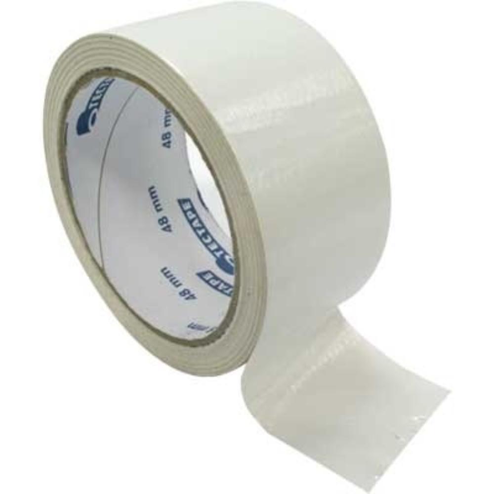 Fita de PVC Silver Tape Multiuso Tectape 38mm X 5m Branca  - Casa do Roadie