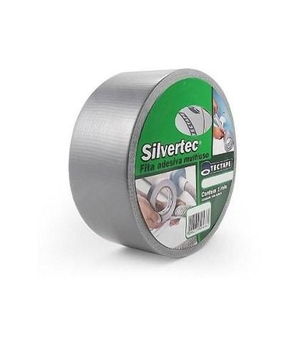 Fita de PVC Silver Tape Multiuso Tectape 38mm X 5m Cinza  - Casa do Roadie