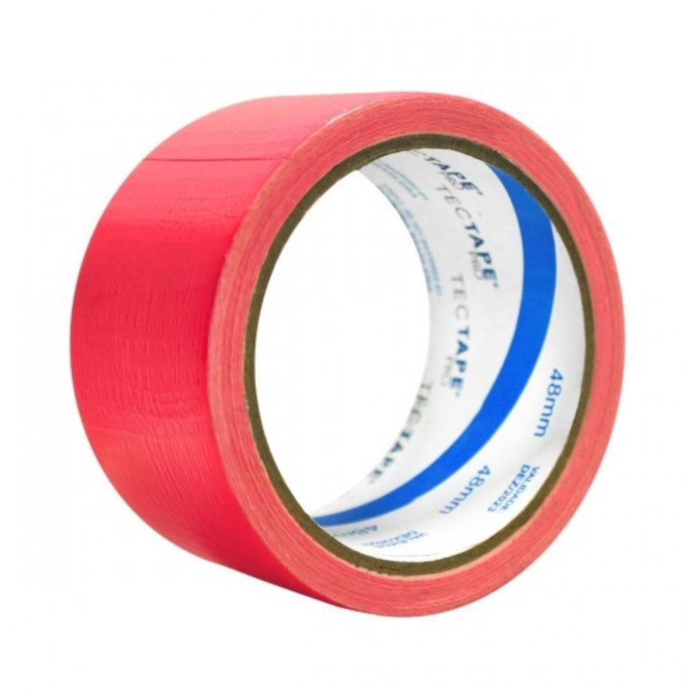 Fita de PVC Silver Tape Multiuso Tectape 48mm X 10m Rosa Neon