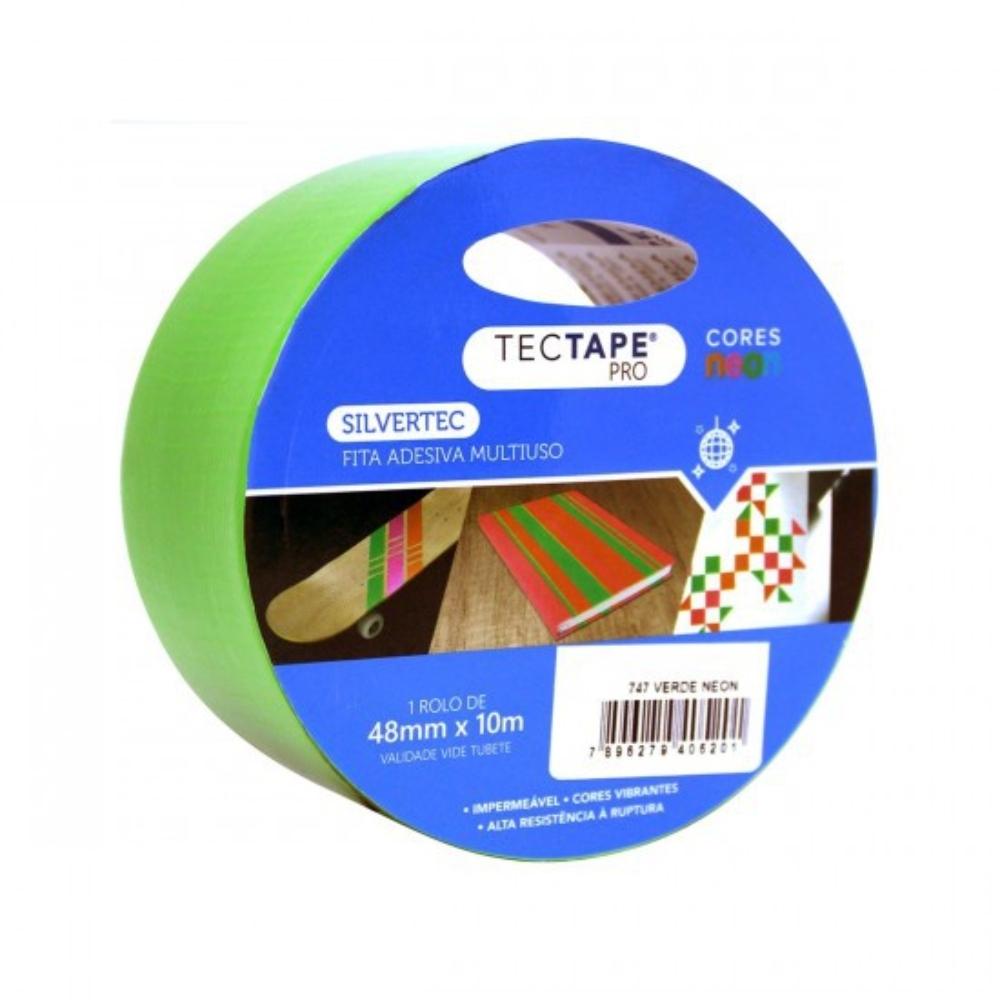 Fita de PVC Silver Tape Multiuso Tectape 48mm X 10m Verde Neon