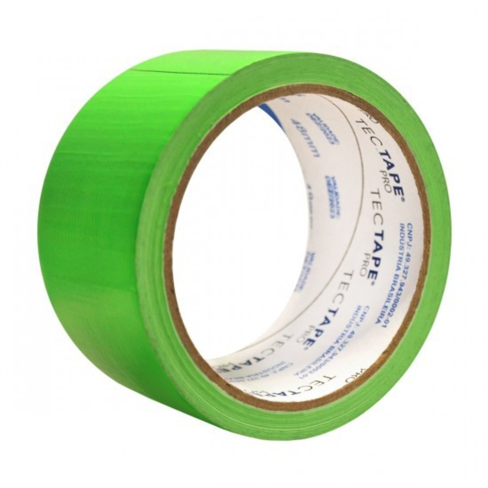 Fita de PVC Silver Tape Multiuso Tectape 48mm X 10m Verde Neon  - Casa do Roadie