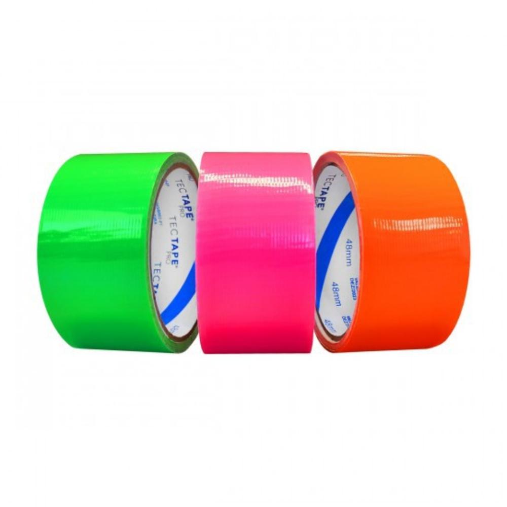 Fita de PVC Silver Tape Multiuso Tectape 48mm X 10m Verde Neon  - Casa do Roadie
