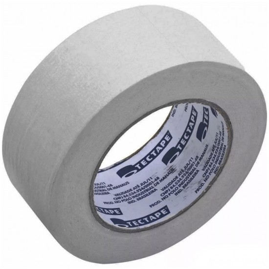Fita de PVC Silver Tape Multiuso Tectape 48mm X 30m Branca  - Casa do Roadie