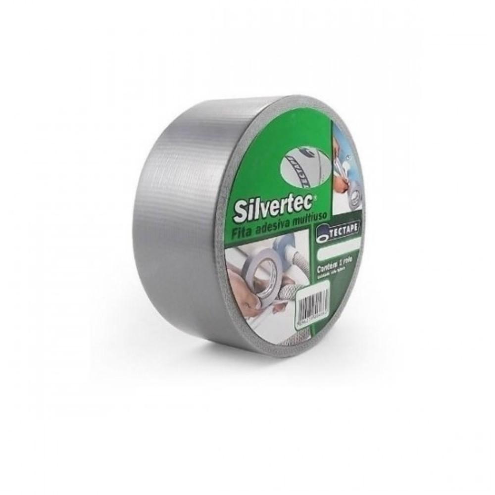 Fita de PVC Silver Tape Multiuso Tectape 48mm X 50m Cinza 717 PLUS