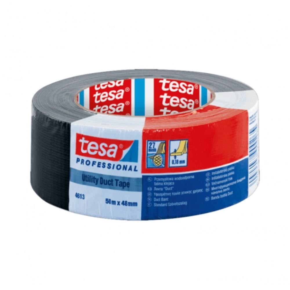Fita de PVC Silver Tape Multiuso Tesa 48mm X 50m Preta