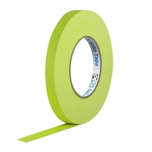 Fita de Tecido Gaffer Spike Tape Pro Tapes 13mm X 50m Amarela  - Casa do Roadie