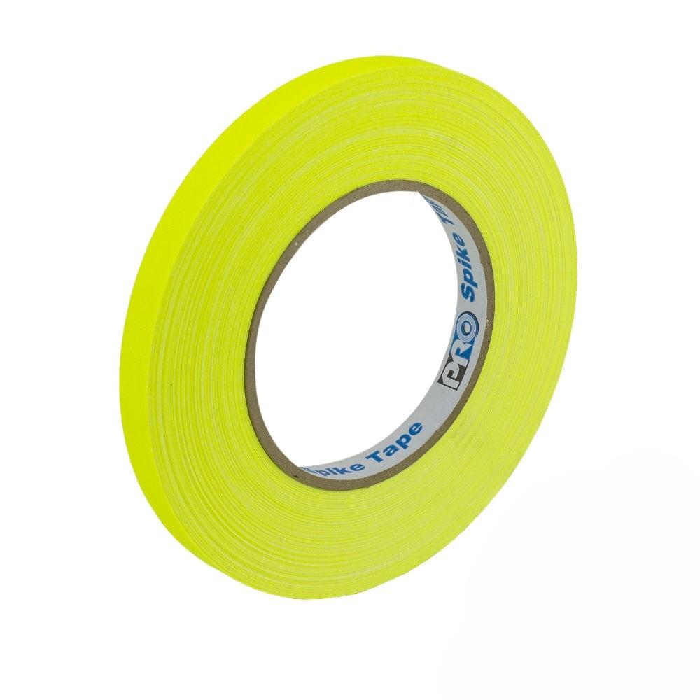 Fita de Tecido Gaffer Spike Tape Pro Tapes 13mm X 50m Amarela  - Casa do Roadie