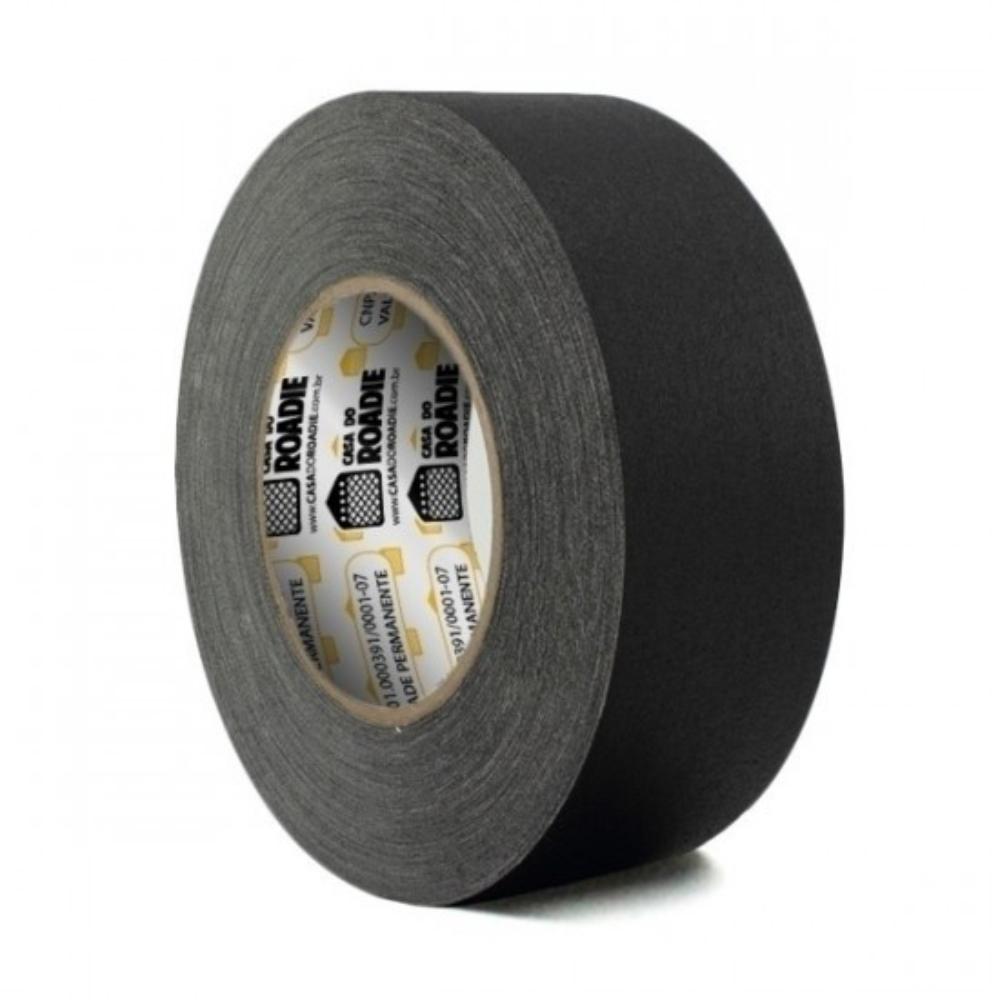Fita de Tecido Gaffer Tape Casa do Roadie 48mm X 25m Preta  - Casa do Roadie