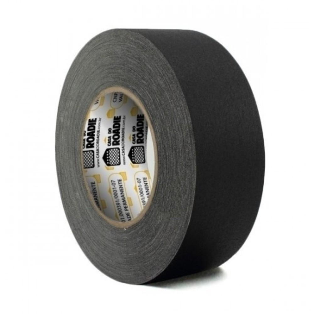 Fita de Tecido Gaffer Tape Casa do Roadie 48mm X 50m Preta