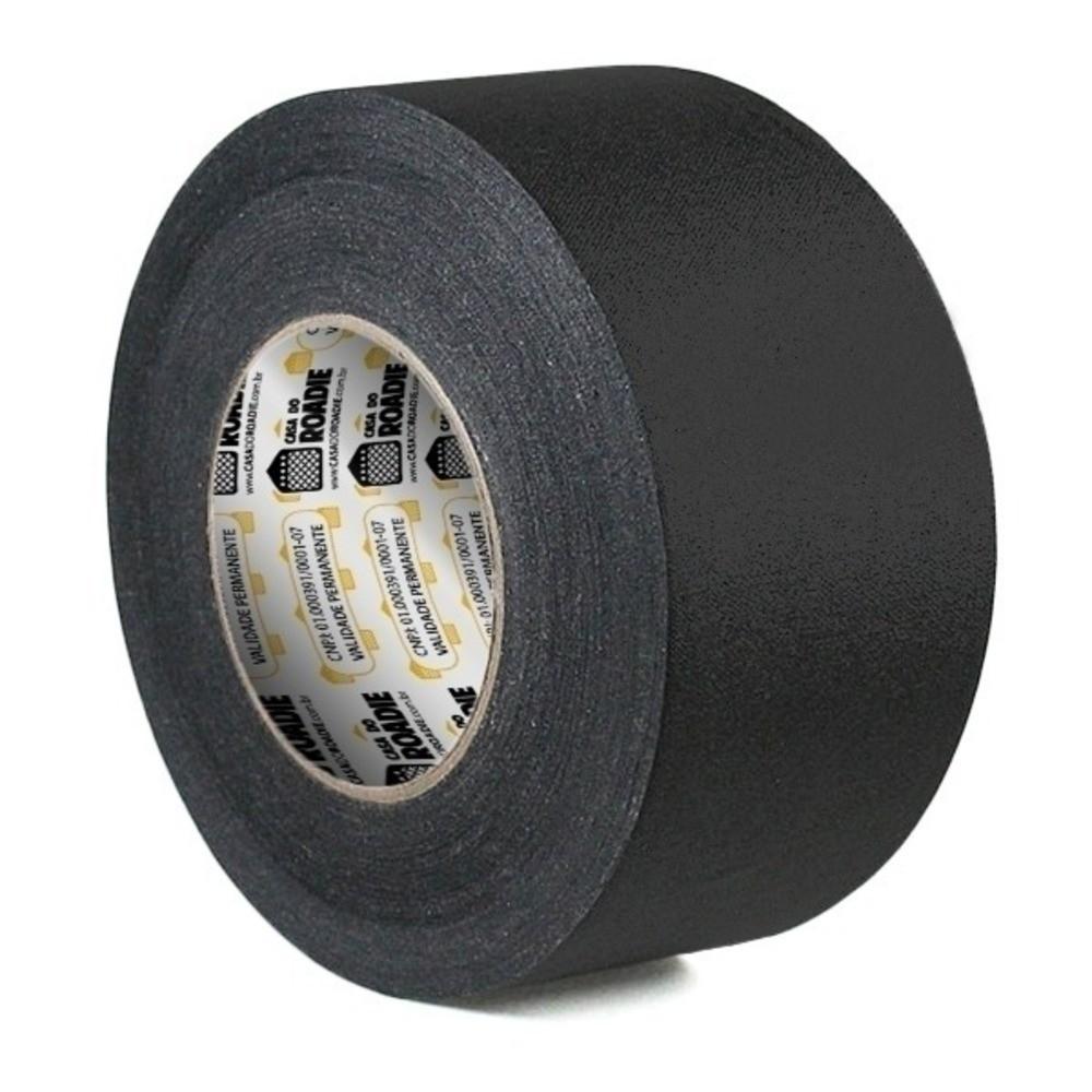 Fita de Tecido Gaffer Tape Casa do Roadie 69mm X 50m Preta