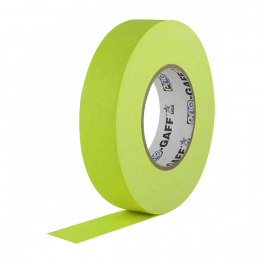 Fita de Tecido Gaffer Tape Pro Gaff Pro Tapes 24mm X 25m Amarela Fluor