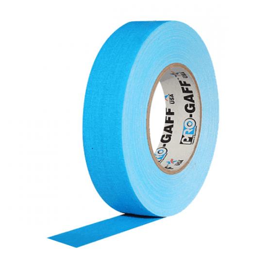 Fita de Tecido Gaffer Tape Pro Gaff Pro Tapes 24mm X 25m Azul Fluor
