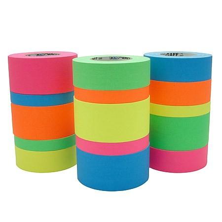 Fita de Tecido Gaffer Tape Pro Gaff Pro Tapes 24mm X 50m Azul Fluor  - Casa do Roadie
