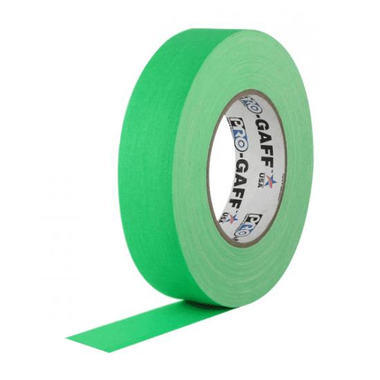 Fita de Tecido Gaffer Tape Pro Gaff Pro Tapes 24mm X 50m Verde Fluor