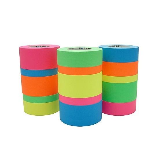 Fita de Tecido Gaffer Tape Pro Gaff Pro Tapes 24mm X 50m Verde Fluor  - Casa do Roadie