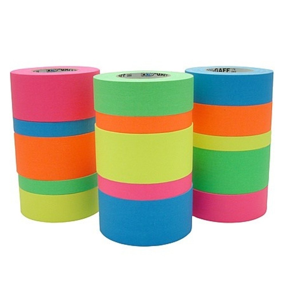 Fita de Tecido Gaffer Tape Pro Gaff Pro Tapes 48mm X 25m Azul Fluor  - Casa do Roadie