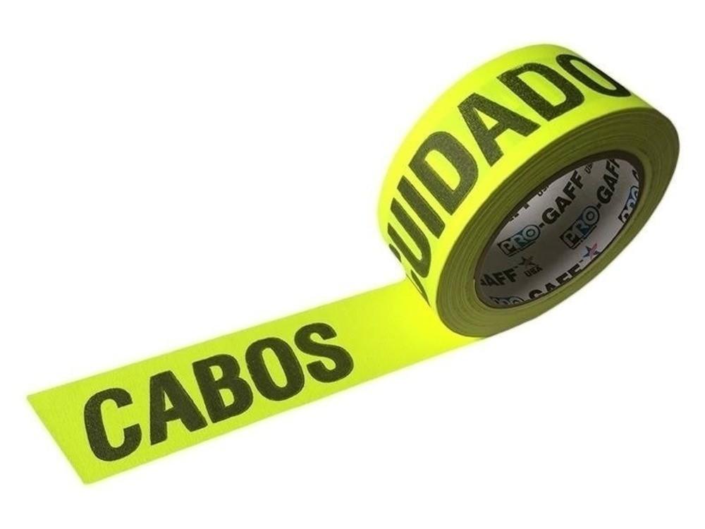Fita de Tecido Gaffer Tape Pro Gaff Pro Tapes 48mm X 25m Cuidado Cabos Amarela