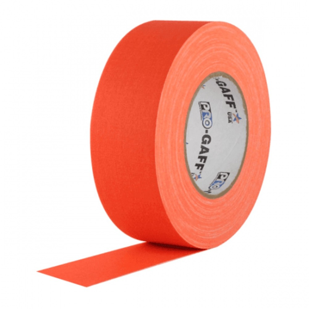 Fita de Tecido Gaffer Tape Pro Gaff Pro Tapes 48mm X 25m Laranja Fluor  - Casa do Roadie