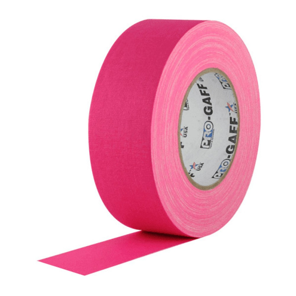 Fita de Tecido Gaffer Tape Pro Gaff Pro Tapes 48mm X 25m Rosa Fluor