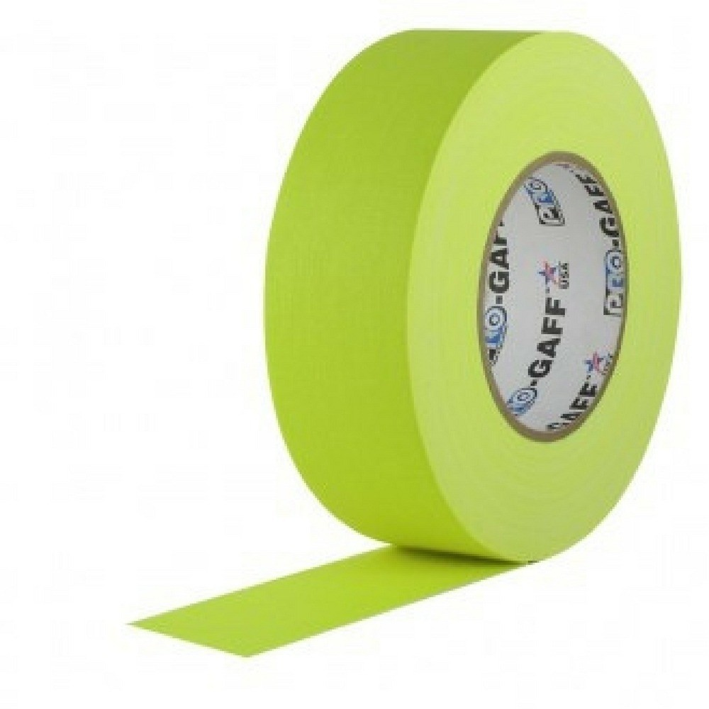 Fita de Tecido Gaffer Tape Pro Gaff Pro Tapes 48mm X 50m Amarela Fluor  - Casa do Roadie