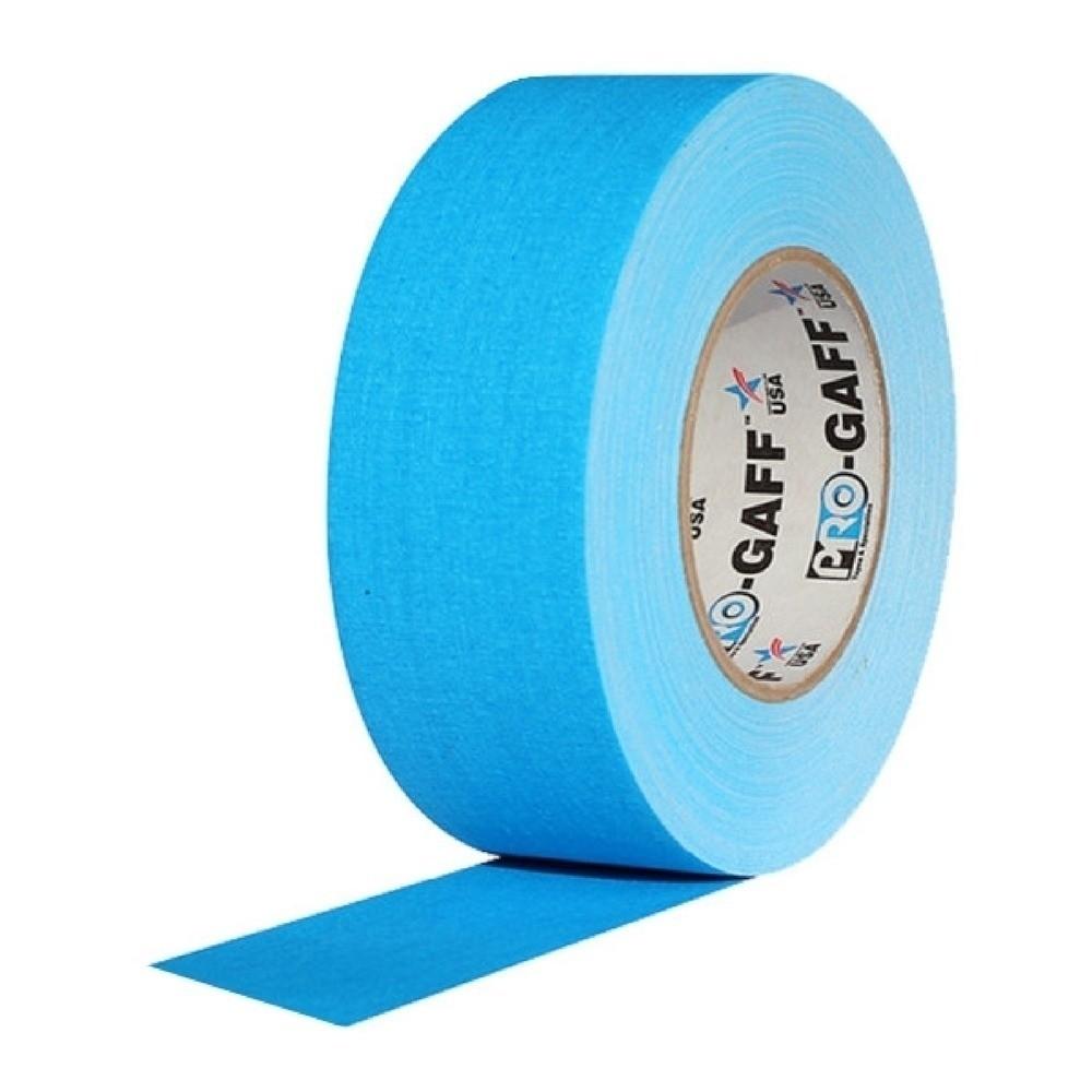 Fita de Tecido Gaffer Tape Pro Gaff Pro Tapes 48mm X 50m Azul Fluor  - Casa do Roadie