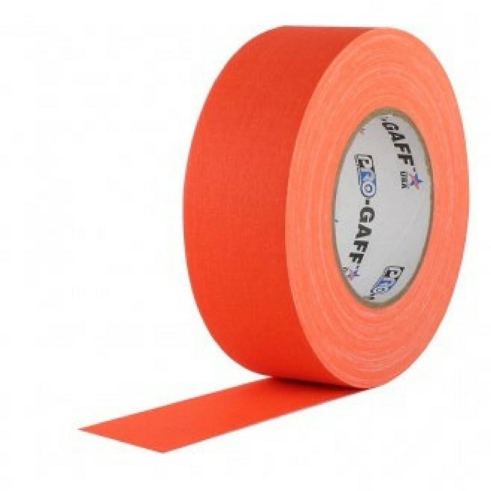 Fita de Tecido Gaffer Tape Pro Gaff Pro Tapes 48mm X 50m Laranja Fluor