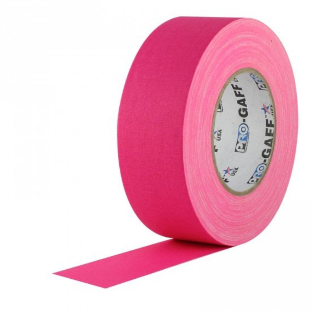 Fita de Tecido Gaffer Tape Pro Gaff Pro Tapes 48mm X 50m Rosa Fluor  - Casa do Roadie