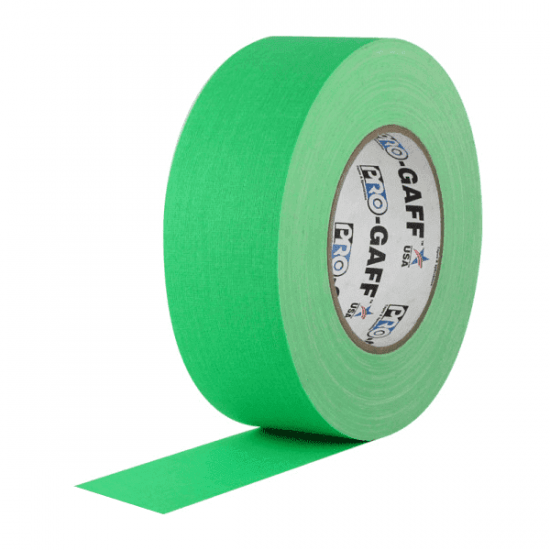 Fita de Tecido Gaffer Tape Pro Gaff Pro Tapes 48mm X 50m Verde Fluor  - Casa do Roadie