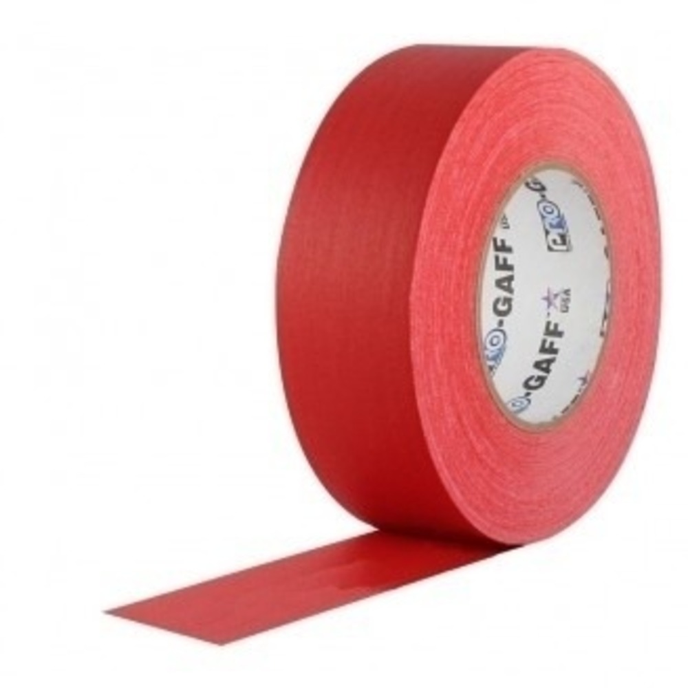 Fita de Tecido Gaffer Tape Pro Gaff Pro Tapes 48mm X 50m Vermelha  - Casa do Roadie