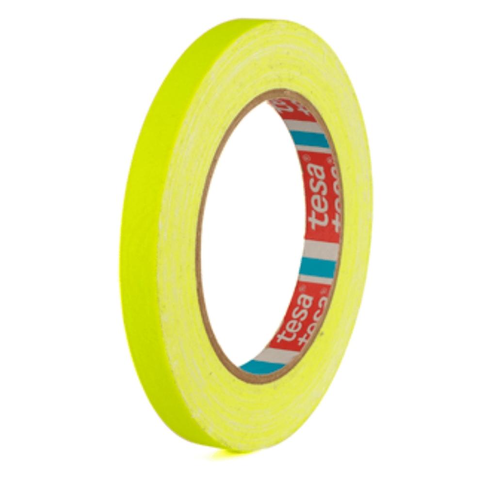 Fita de Tecido Gaffer Tape Tesa 12mm X 25m Amarela Fluorescente  - Casa do Roadie