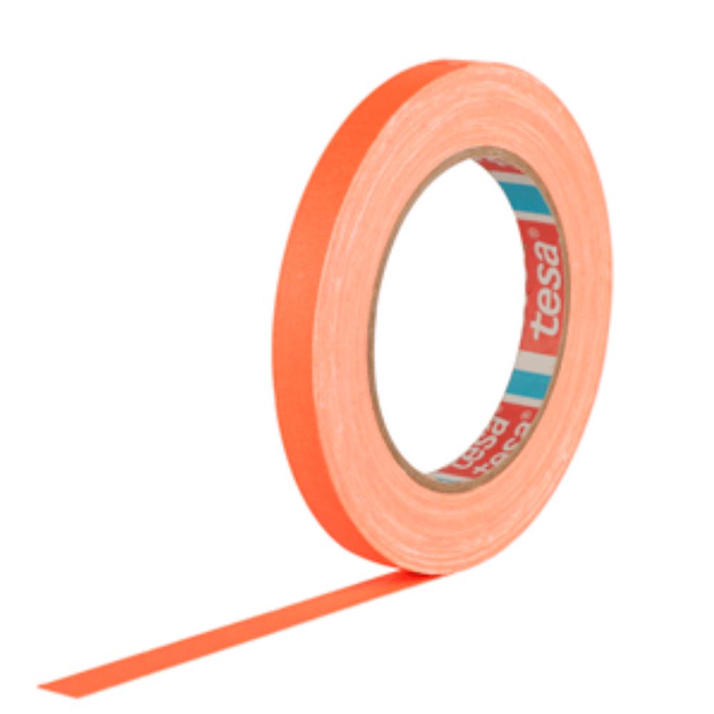 Fita de Tecido Gaffer Tape Tesa 12mm X 25m Laranja Fluorescente
