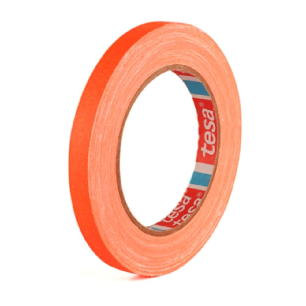Fita de Tecido Gaffer Tape Tesa 12mm X 25m Laranja Fluorescente  - Casa do Roadie