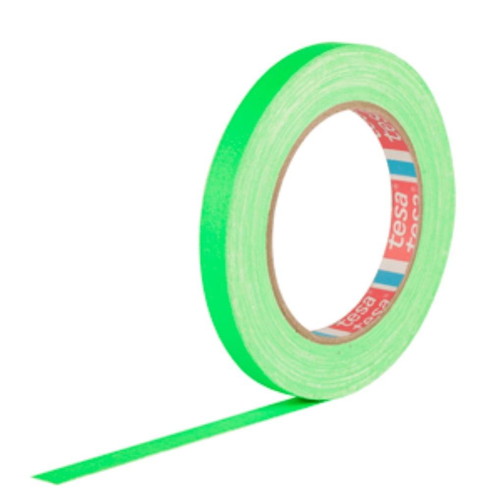 Fita de Tecido Gaffer Tape Tesa 12mm X 25m Verde Fluorescente