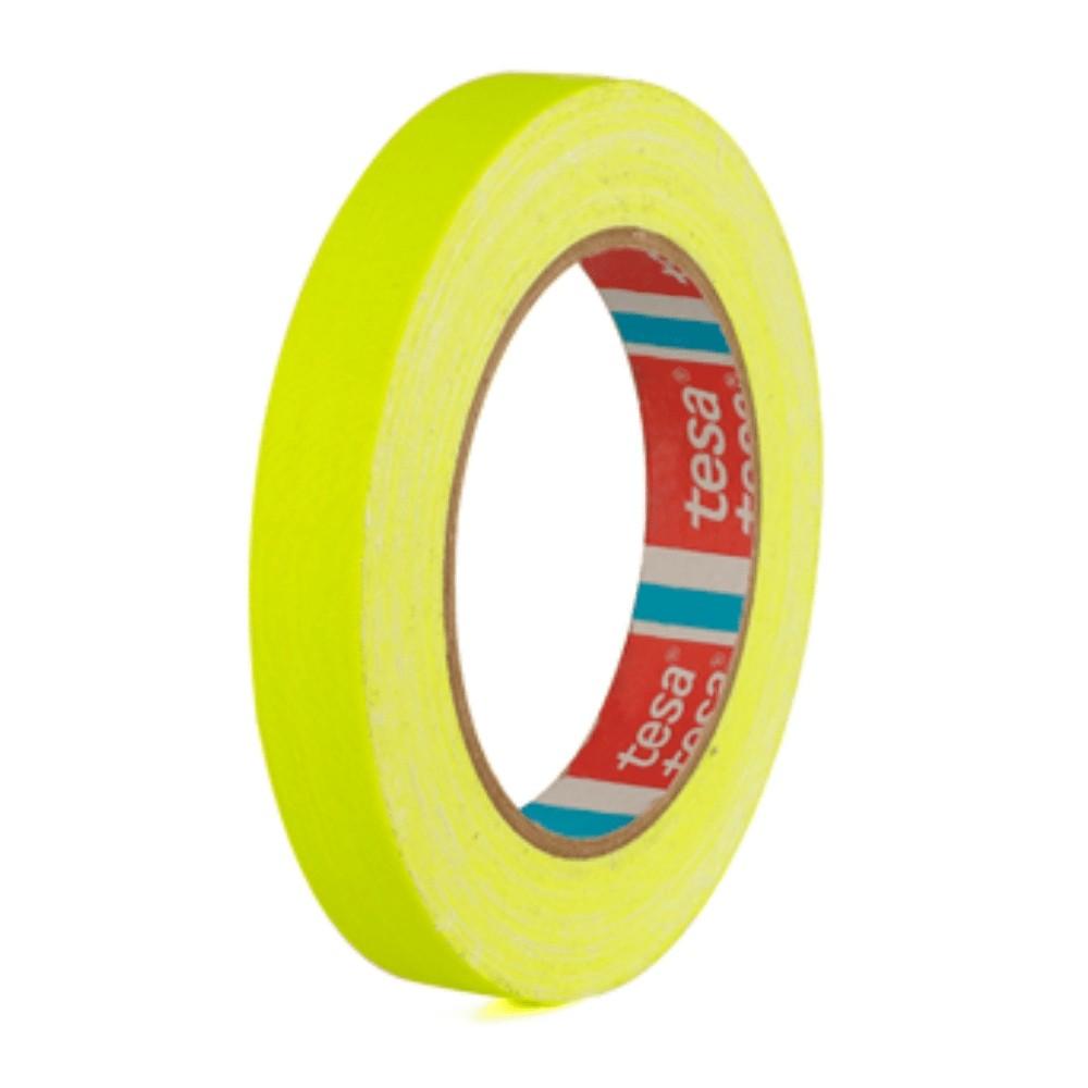 Fita de Tecido Gaffer Tape Tesa 18mm X 25m Amarela Fluorescente