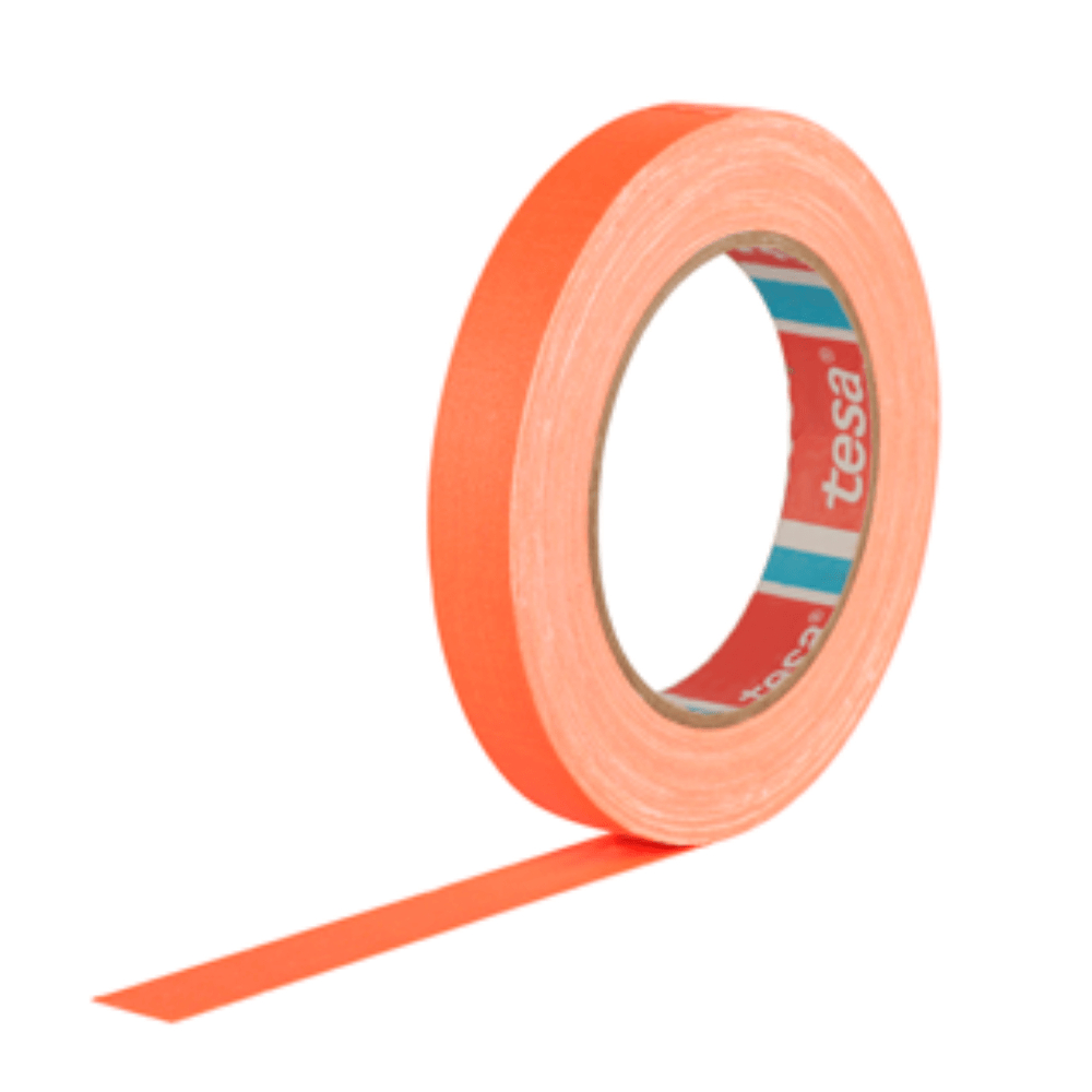 Fita de Tecido Gaffer Tape Tesa 18mm X 25m Laranja Fluorescente
