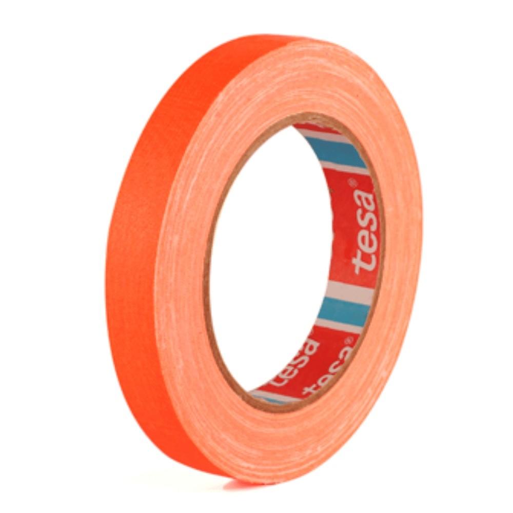 Fita de Tecido Gaffer Tape Tesa 18mm X 25m Laranja Fluorescente  - Casa do Roadie
