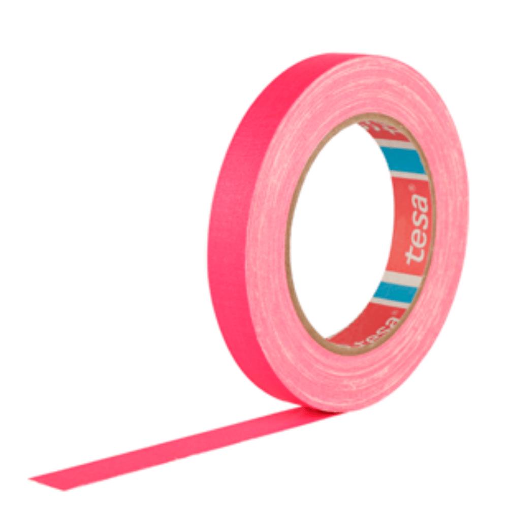 Fita de Tecido Gaffer Tape Tesa 18mm X 25m Rosa Fluorescente