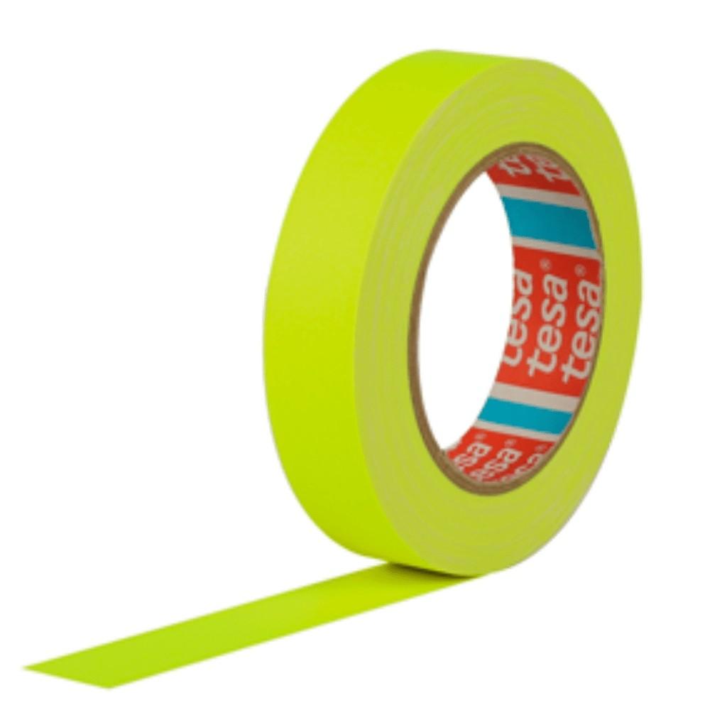 Fita de Tecido Gaffer Tape Tesa 24mm X 25m Amarela Fluorescente