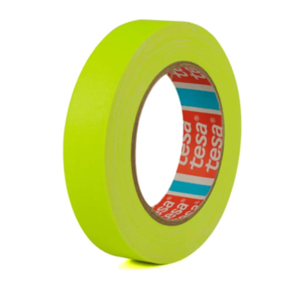 Fita de Tecido Gaffer Tape Tesa 24mm X 25m Amarela Fluorescente  - Casa do Roadie