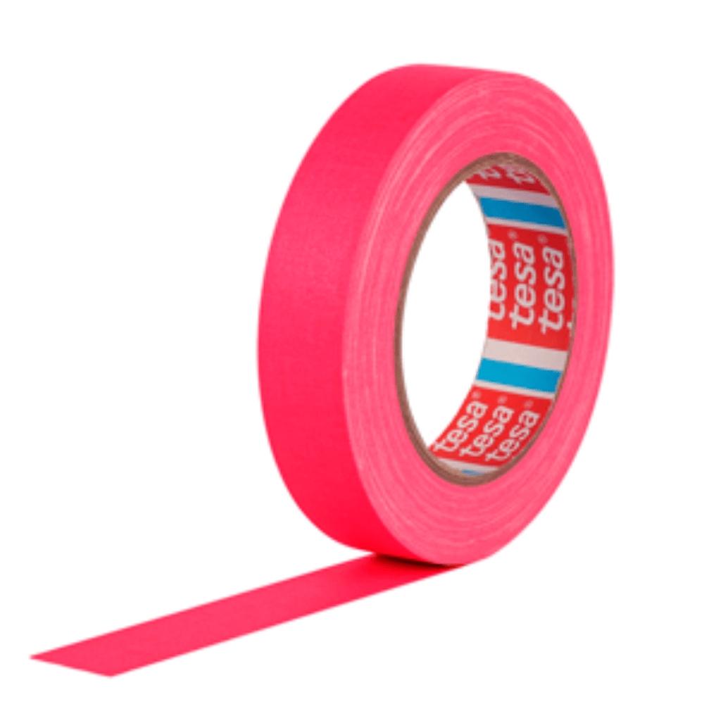 Fita de Tecido Gaffer Tape Tesa 24mm X 25m Rosa Fluorescente