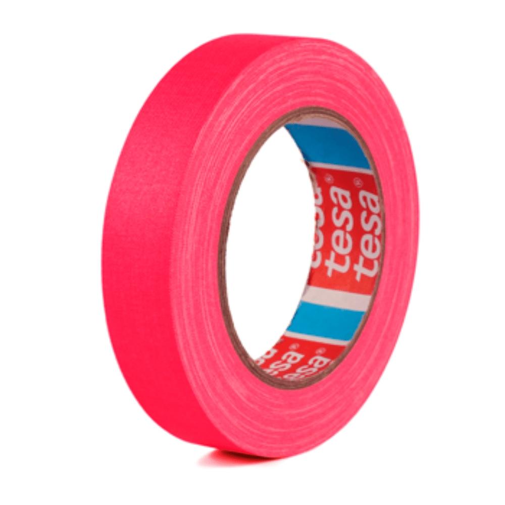Fita de Tecido Gaffer Tape Tesa 24mm X 25m Rosa Fluorescente  - Casa do Roadie