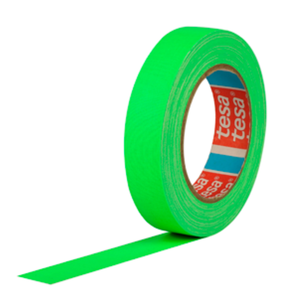 Fita de Tecido Gaffer Tape Tesa 24mm X 25m Verde Fluorescente