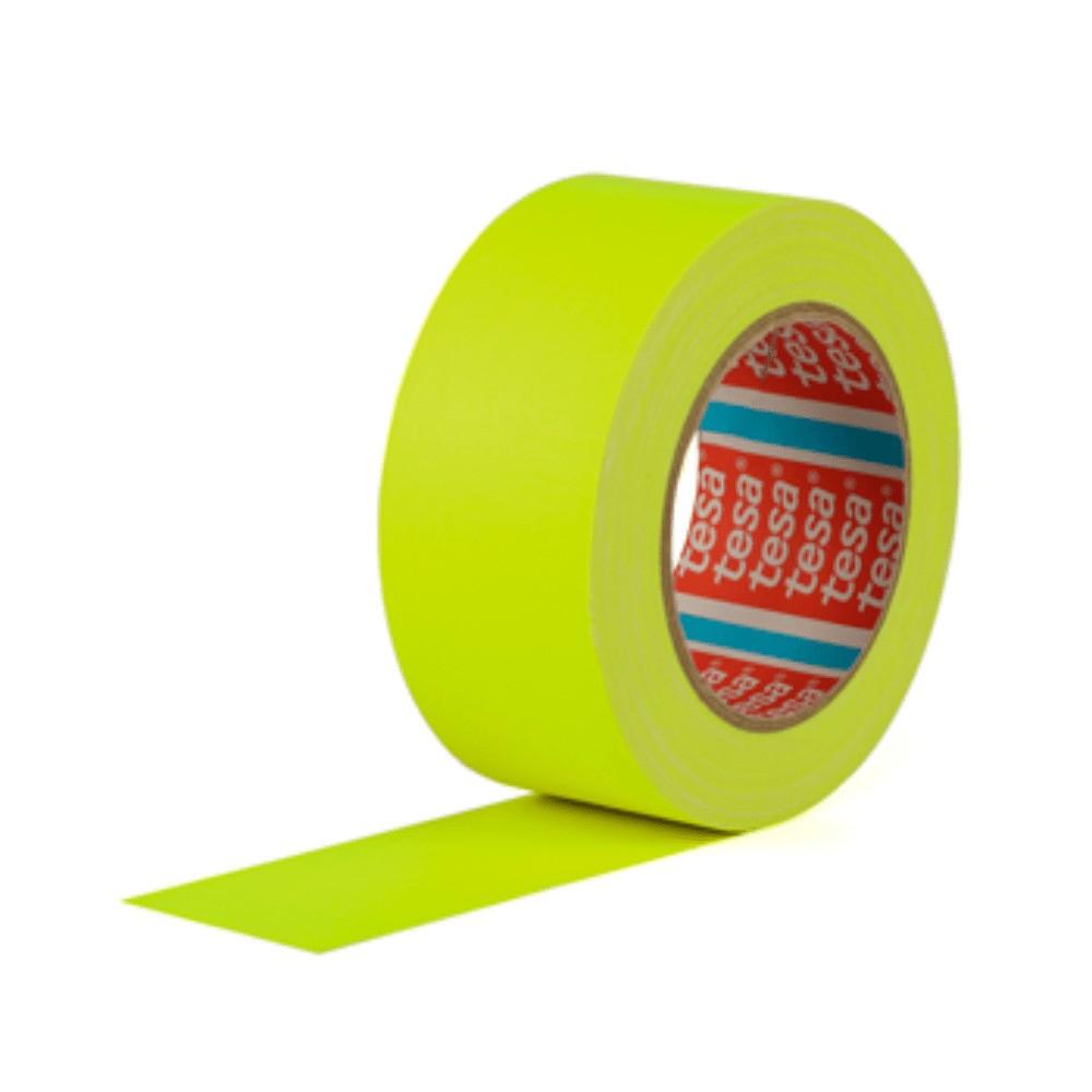 Fita de Tecido Gaffer Tape Tesa 48mm X 25m Amarela Fluorescente
