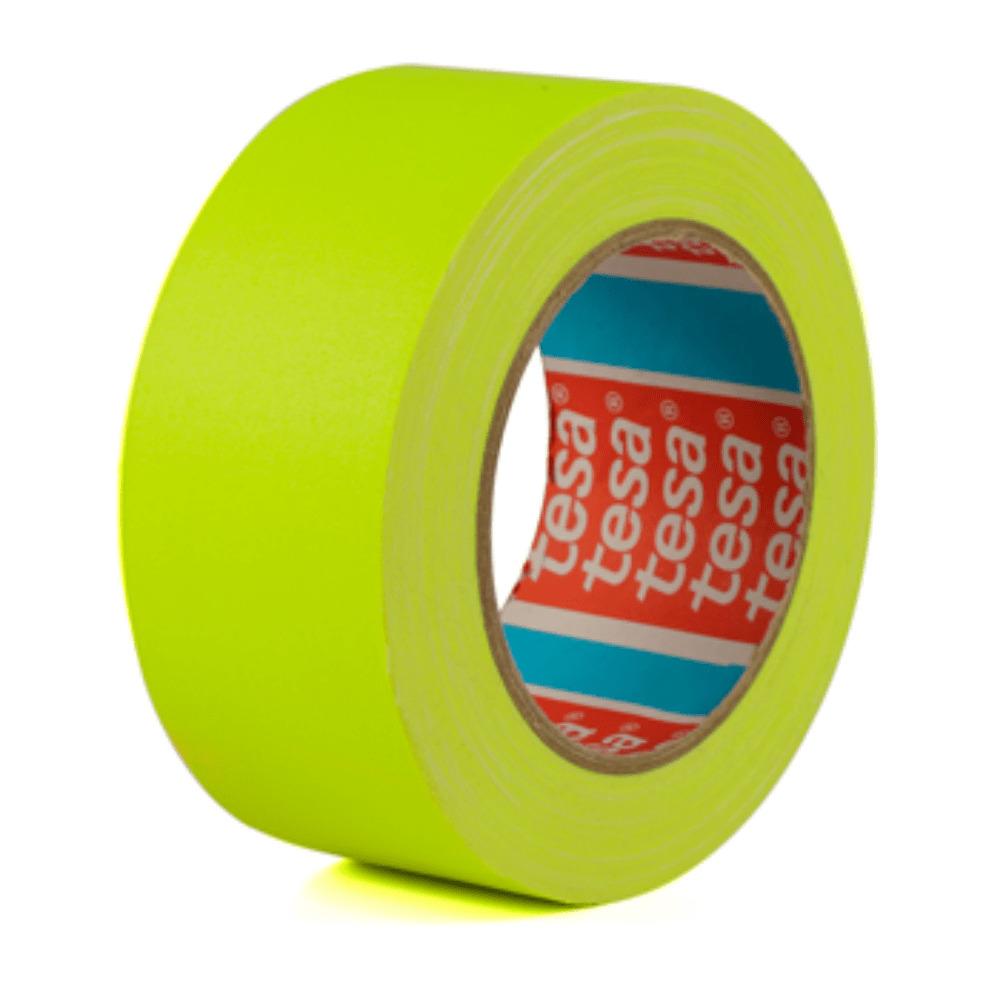 Fita de Tecido Gaffer Tape Tesa 48mm X 25m Amarela Fluorescente  - Casa do Roadie